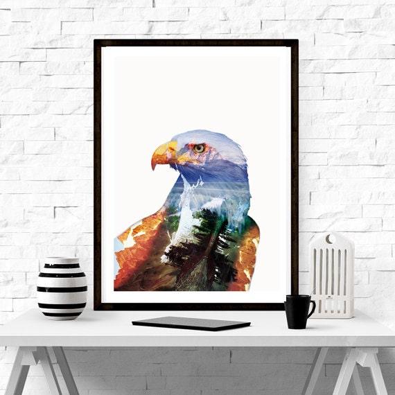 eagle wall art home decor minimalism graphic design interior designers los angeles trend home design and decor
