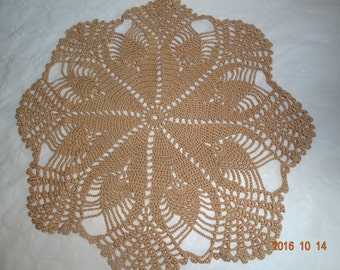 Brown lace doily
