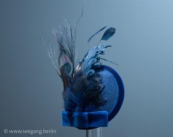 Fascinator Blue Velvet