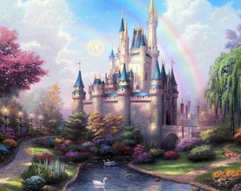 Disney Fairytale Castle Wall Mural