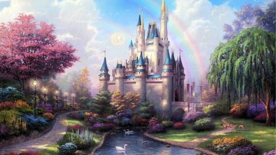 Attractive Disney Fairytale Castle Wall Mural