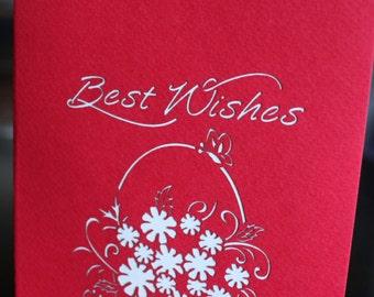 Besh Wishes medium flower pop-up card