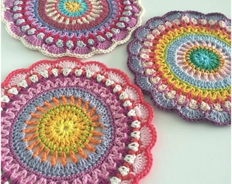 Crochet Mandala Pattern/Doily Table Mat PDF Tutorial