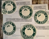 Custom Decals for Starbucks Coffee Cups (personalized). With Instructions. Decals fit Genuine Starbucks Reusable Cups [High Quality DIY]