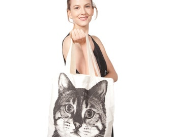 Cotton Canvas Cat Bag