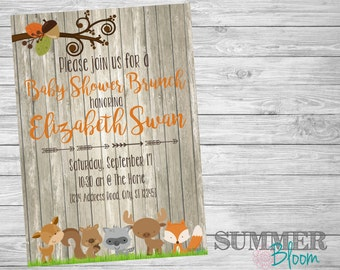 Woodland Forest Animal Baby Shower Brunch