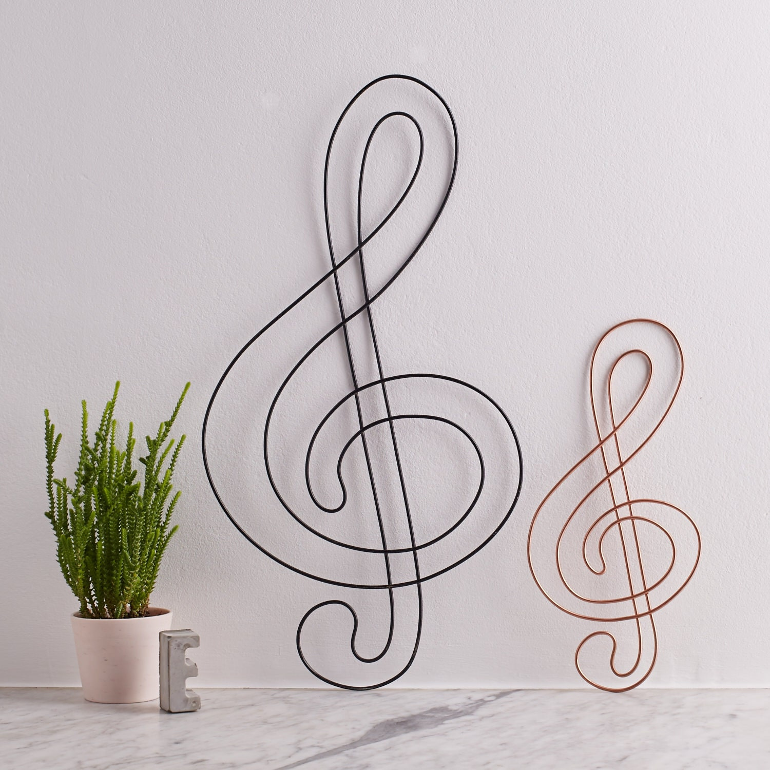 Wire treble clef treble clef music gift gift for musicians zoom amipublicfo Image collections