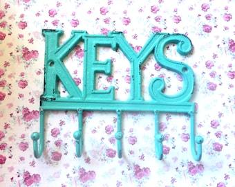 Keys Hook - 32 Colors - Cast Iron - Shabby Chic