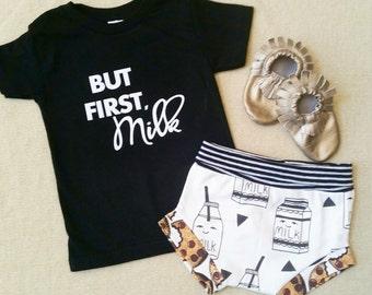 But First, Milk  | Baby Shower | Baby Shower Gift