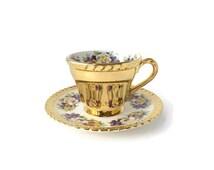 Gold Tea Cup, Pansy Tea Cup, Hand painted Tea, Cup, Japon Tea Cup, Unique Tea Cup, Tea cup and saucer, Saucer, Gold Saucer