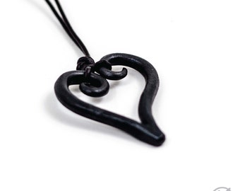 Hand Forged Heart Pendant - Blacksmith Made
