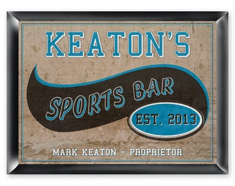 Personalized Man Cave Sign - Bar Sign - Man Cave Decor - Sports Bar