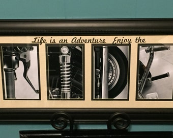 RIDE letter art photography comes framed, 4x6 on SALE harley davidson motorcycle lover gift Lifes an adventure quote Black friday handmade