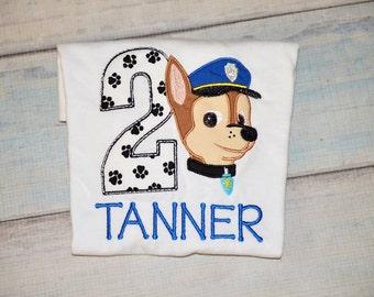 Paw Chase Dog Birthday Shirt Custom Personalized