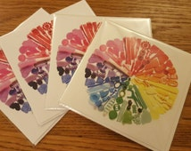Greetings card featuring a photograph of one of my popular colour wheels