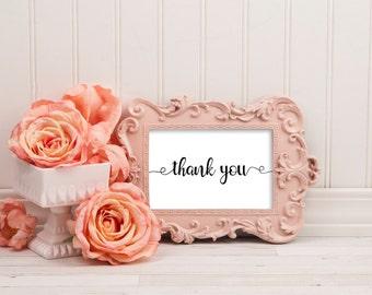 Thank you sign, thank you wedding sign, thank you sign for wedding, thank you sign wedding