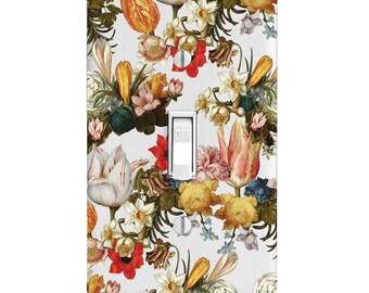 Vintage Bouquet Flower Floral Light Switch Cover, Home Decor, Housewarming Gift, Lighting, Bedroom Decor, Bathroom Decor, Kitchen Decor