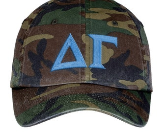 Delta Gamma Lettered Camouflage Hat