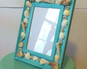 Turquoise Sea Shell Picture Frame