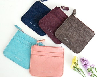 Simple Thin Card Wallet,  Leather Card Case,  Leather Card Holder,  Leather Card Case, Leather Card Pocket, Leather Card Pouch