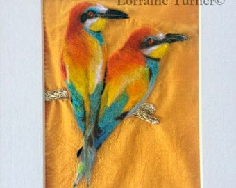 Bee-Eater Birds Felted Illustration