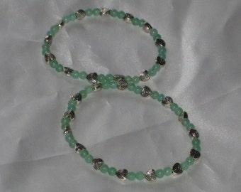 Green Aventurine Bracelet - Prosperity, Heart Chakra, Healing Crystal, Metaphysical, Spiritual,
