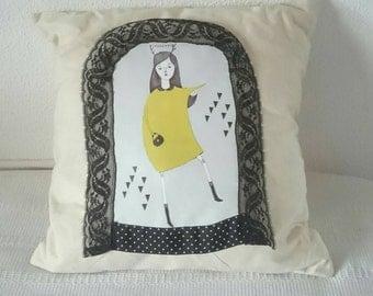 pillow original girly