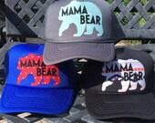 Best Seller! Mama Bear Trucker Hat SnapBack, new mom, new mother, kids