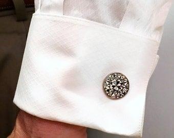 Diamond Enamel Cufflinks