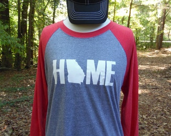 Home, State Shirt, All 50 States Available, Raglan Tee, State Pride
