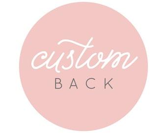 For Invitation or Announcement - Custom back design