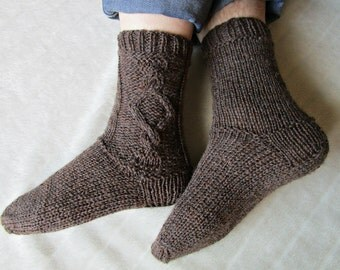 Knit men's socks Hand knit socks Men's knitted socks Woolen knitted socks Handmade socks Warm mens gift for dad  brother husband