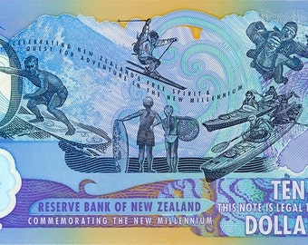 New Zealand Commemorative Bank Note / Currency / Money - Uncirculated? - Showcasing Nature and Kiwi Spirit