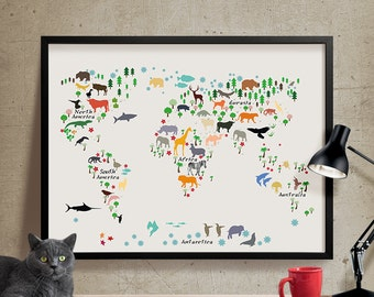 World map nursery  Etsy