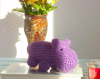 Cute Amigurumi Hippo Crocheted Plush Toy Gift Under 20 Dollars