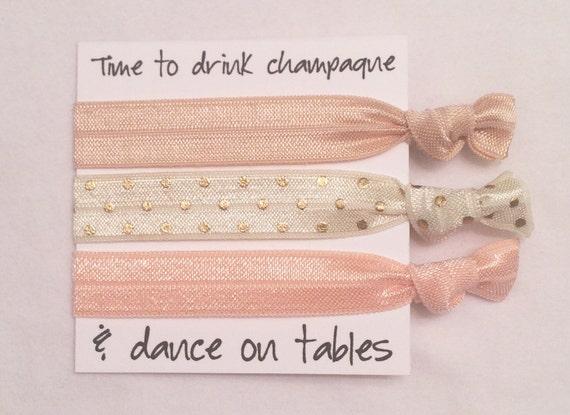 Bridesmaid hair tie favors//hair tie card, hair tie favors, bridesmaid gift, bachelorette party, wedding, bride, bridesmaid bag