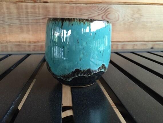 Mizu cup #102 - turquoise, wrought iron