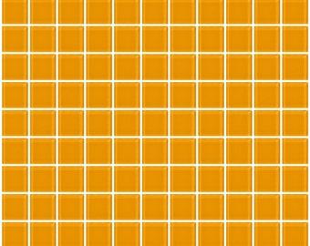 1-inch light orange glass tile (J1109)