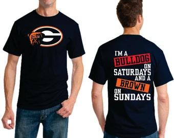 Bulldog on Saturday Brown on Sunday