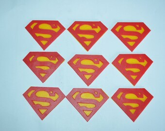 Superman Fondant Cupcake Topper, Superman Cake Topper