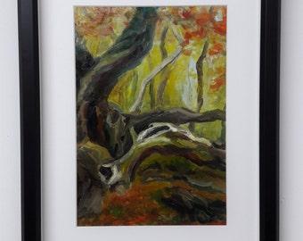 Framed Signed Original Landscape Oil Painting - 'Kingswood in Autumn' - Artist: Leanne Betts