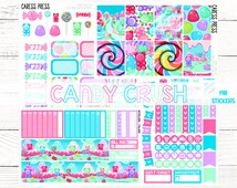Summer Blow Out Sale (25% OFF & FINAL SALE) | Candy Crush Kit | 198 Stickers | 1-2 week Processing