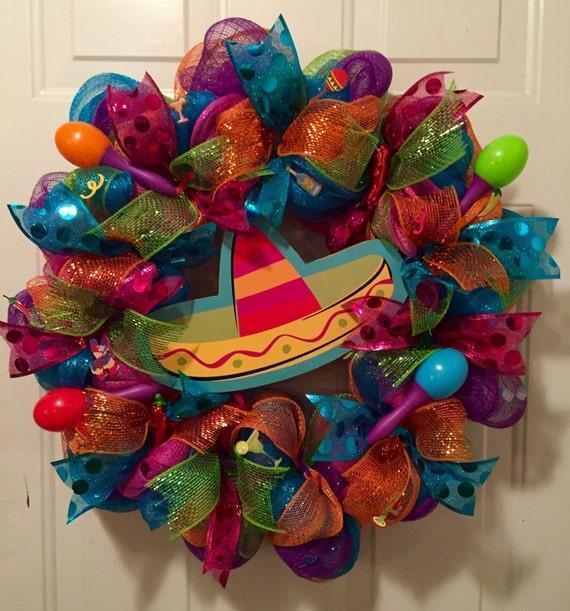 Cinco De Mayo Wreath Fiesta Wreath Mexican Fiesta By