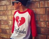 Heartbreaker since Custom Raglan T Shirt Tee TShirt Baby Clothes Girl Baby Shirt Baby Clothes Baby Gift Valentine's Day Love