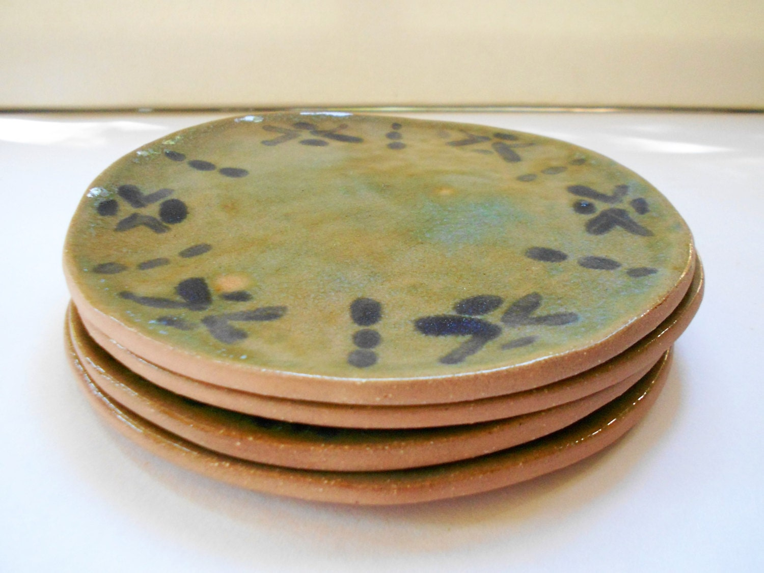 Handmade Pottery Plates Ceramic Tapas Dishes Snack Dessert