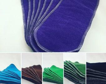 15 Reusable Cloth Wipes, Family Cloth ready to ship!
