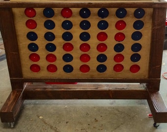 Giant Rustic Yard-sized Connect Four Game