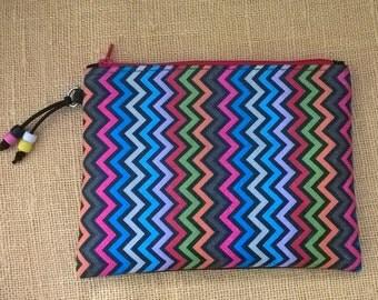 Little cosmetic bag, handmade small decoupage clutch, mini purse, woman handbag, handmade, for make up