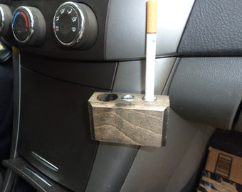 Safe snuffer, cigarette snuffer, portable ashtray, perfect for car, choice of light, medium, or dark wood
