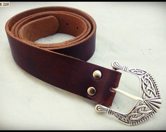 Belt custom - vegetable tanned leather croupon